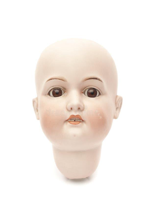 Головка куклы фарфора стоковая фотография rf