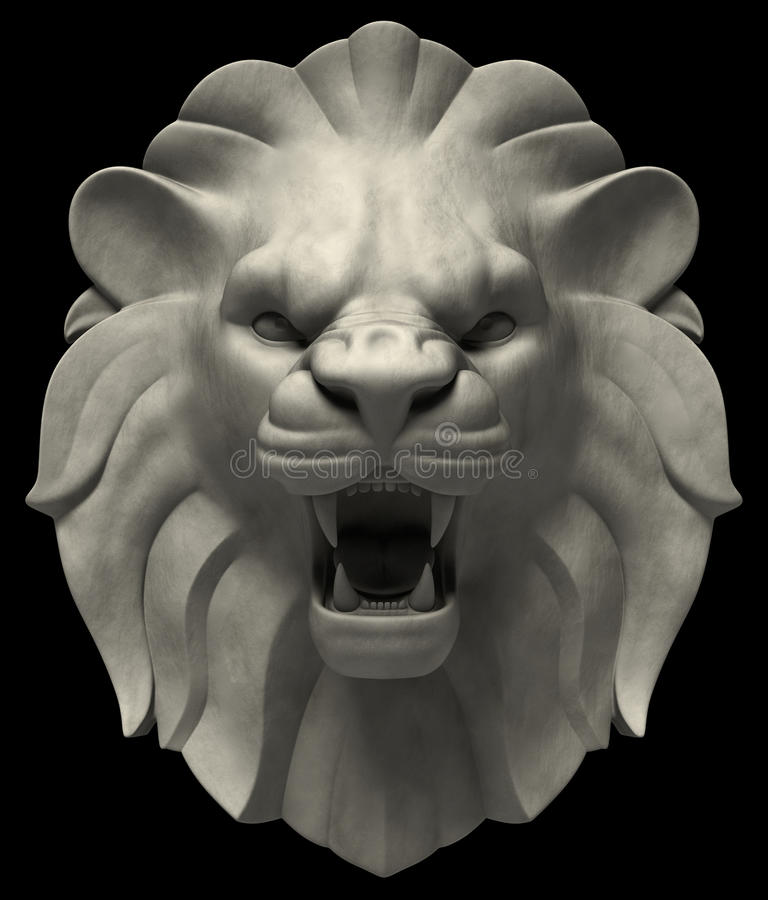 Головка львов бесплатная иллюстрация