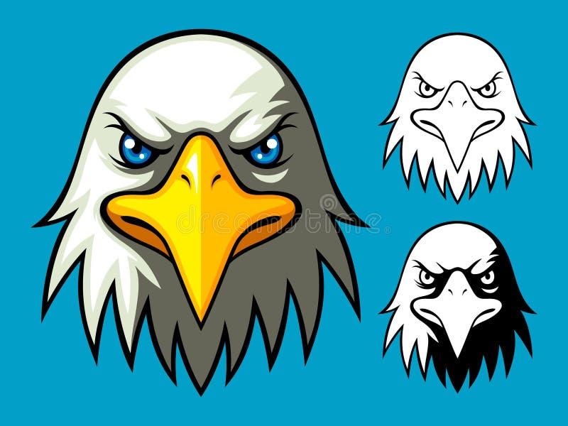 головка облыселого орла иллюстрация вектора