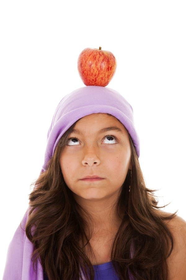 головка ребенка яблока ее детеныши стоковое изображение rf