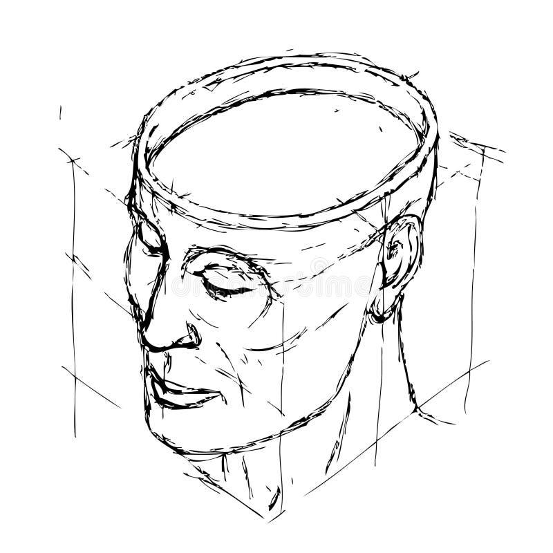 головка иллюстрация вектора
