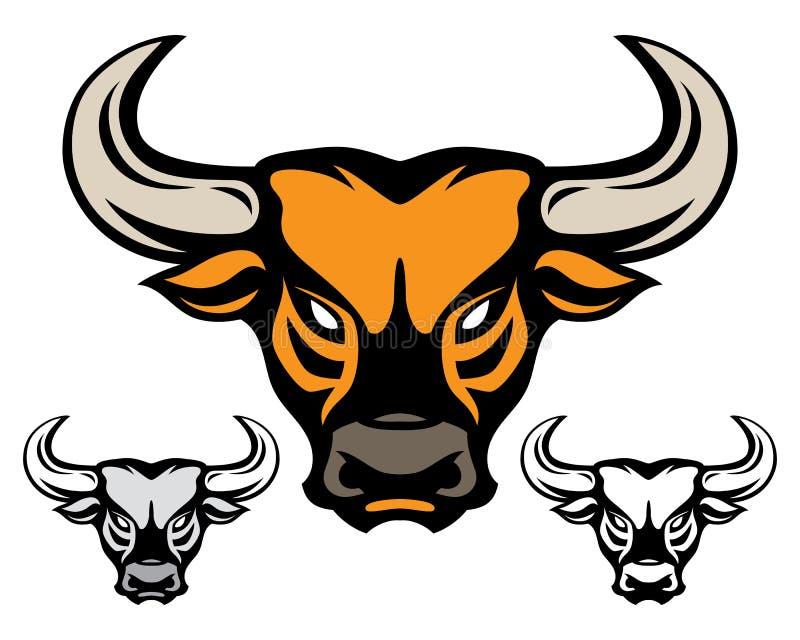Головка Bull иллюстрация вектора