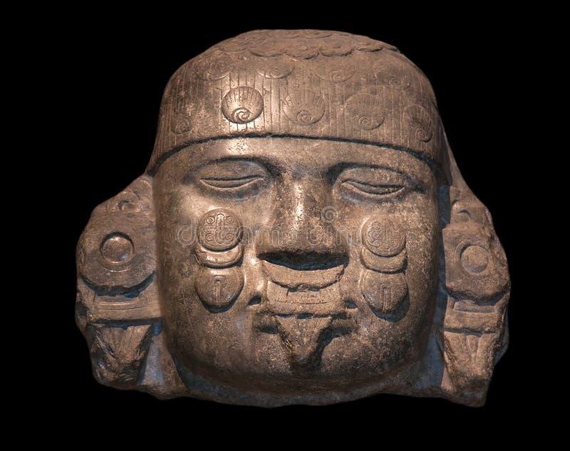 Головка Coyolxauhqui стоковое изображение