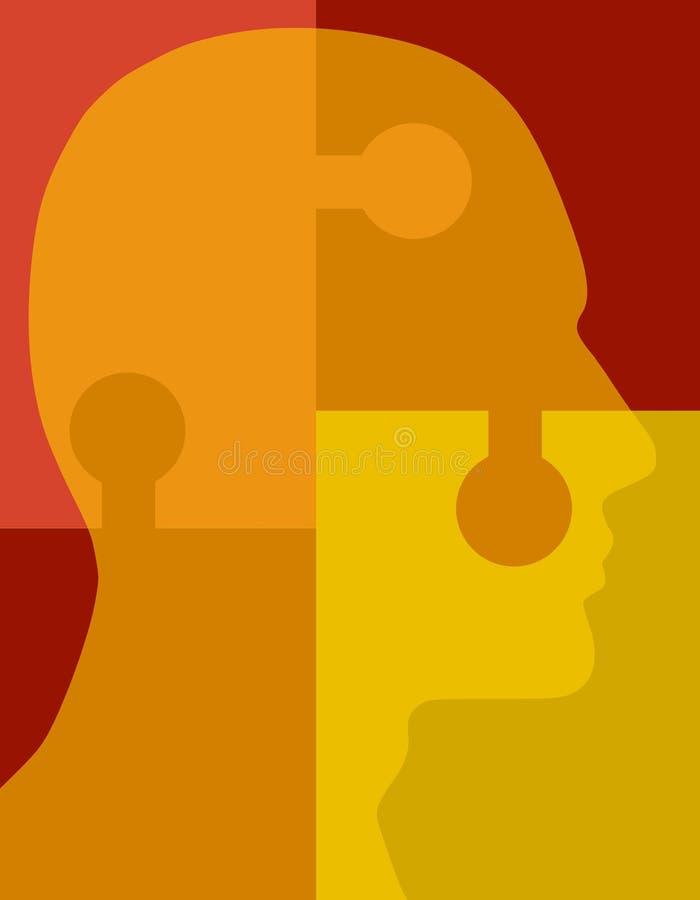 головная головоломка психологии иллюстрация штока