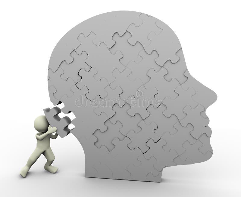 головная головоломка человека бесплатная иллюстрация