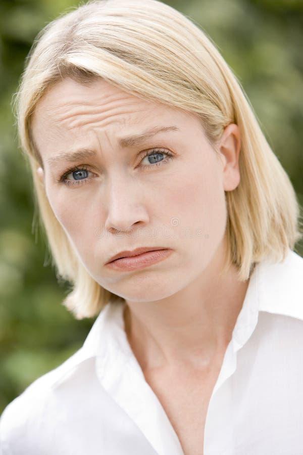 головная женщина съемки стоковое изображение rf