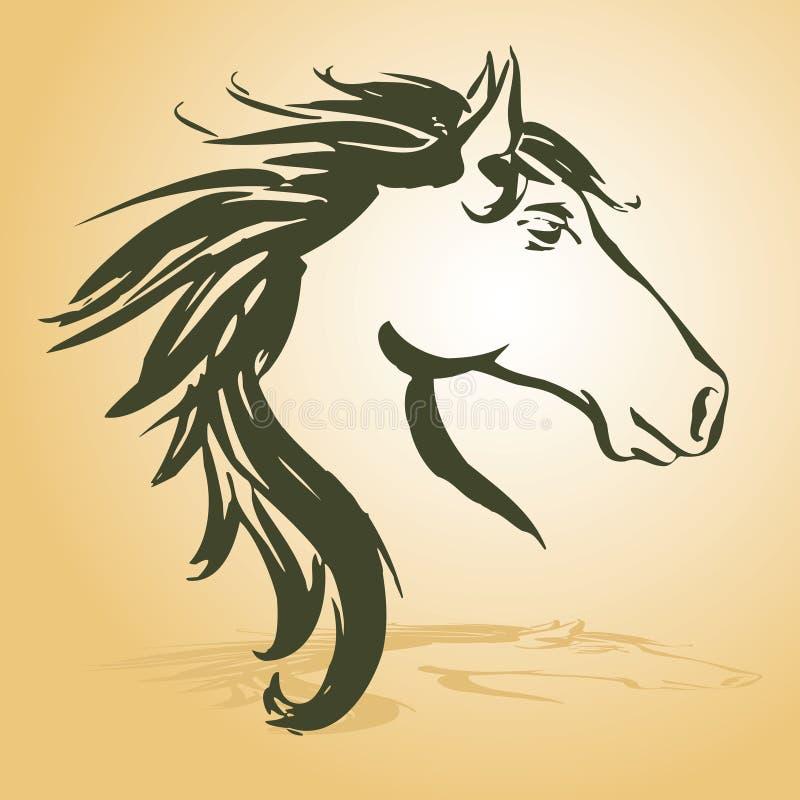 головная лошадь иллюстрация штока
