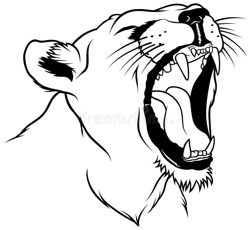 головная львица иллюстрация штока