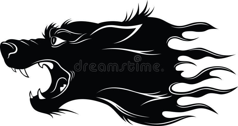 головной волк иллюстрация вектора
