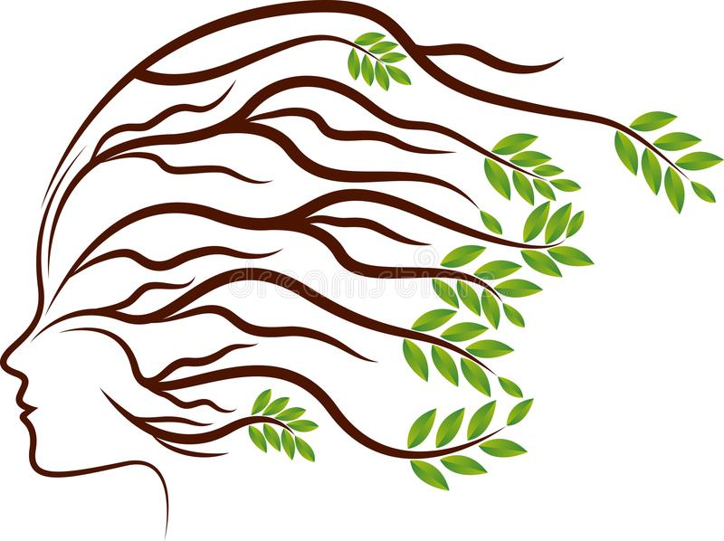 Головной завод укореняет логотип иллюстрация штока
