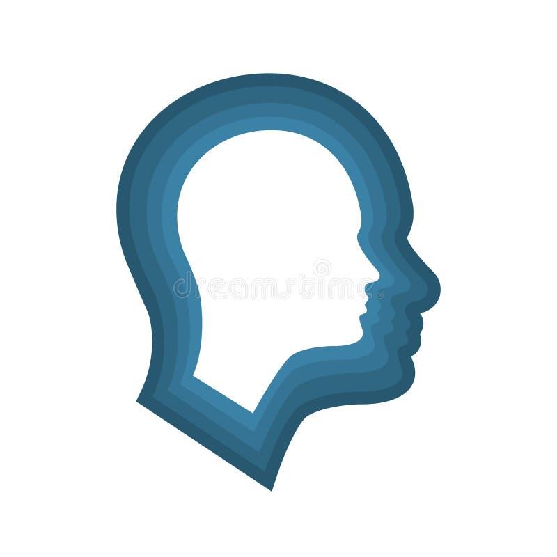 Головной значок для шизофрении иллюстрация вектора