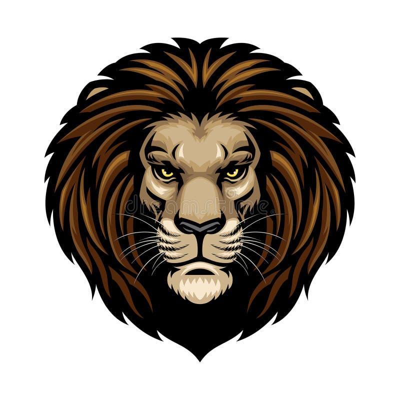 головной львев иллюстрация вектора