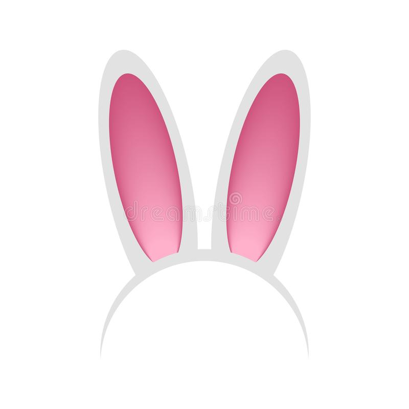 Головной обруч с ушами кролика или зайцев Держатель - маска зайчика для торжества, партии, фестиваля, пасхи вектор иллюстрация вектора