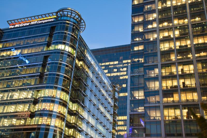 Головной офис Великобритании холма McGraw в канереечном причале стоковая фотография