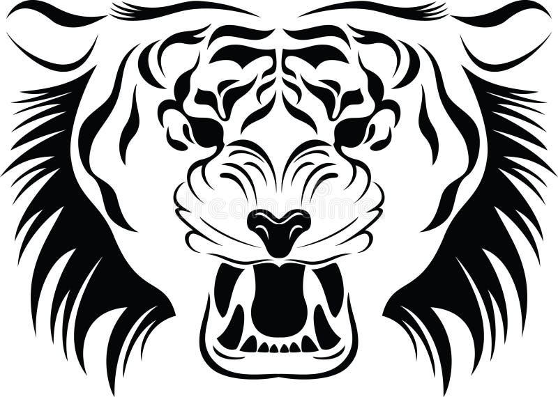 головной тигр иллюстрация штока