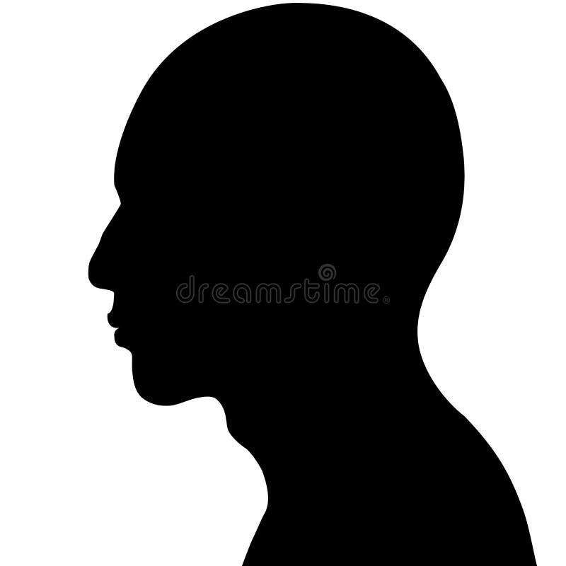 головной человек иллюстрация вектора