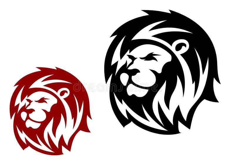 головной heraldic львев бесплатная иллюстрация