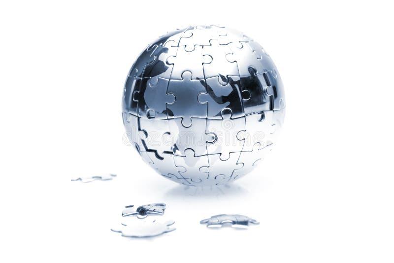 головоломка глобуса стоковые изображения rf