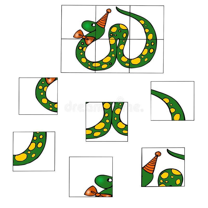 головоломка десятое игры иллюстрация вектора