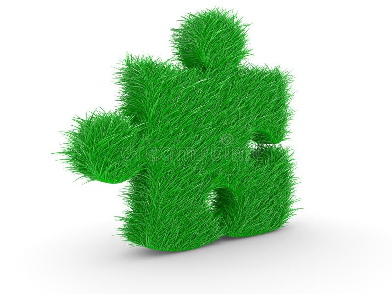 головоломка зеленого цвета травы иллюстрация вектора