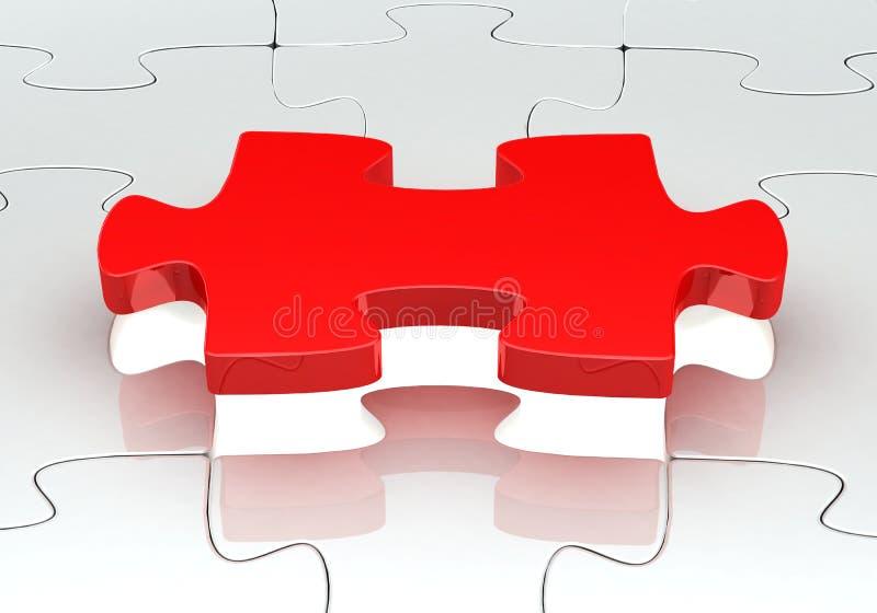 головоломка зигзага 3d иллюстрация вектора