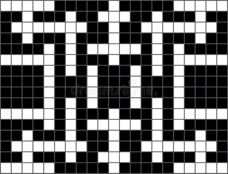 головоломка кроссворда пустая иллюстрация штока
