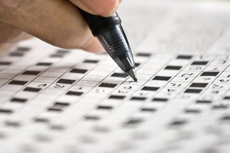 головоломка кроссворда стоковое изображение