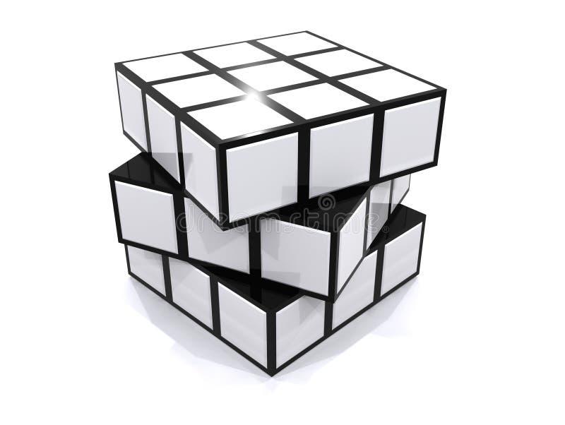 головоломка кубика иллюстрация вектора