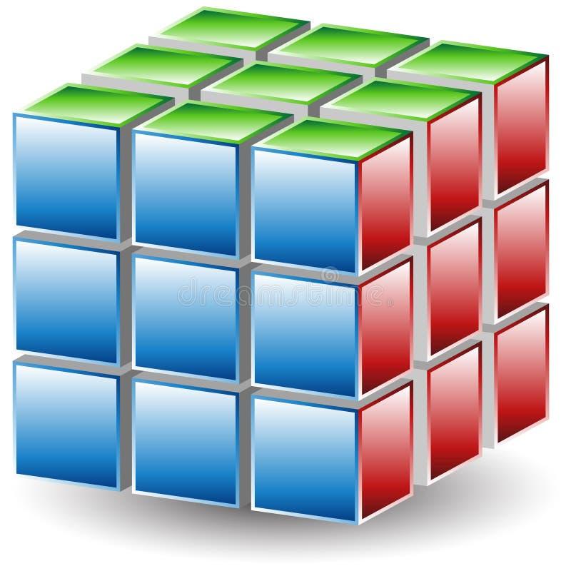 головоломка кубика бесплатная иллюстрация