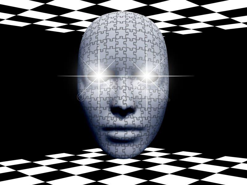 головоломка маски иллюстрация вектора
