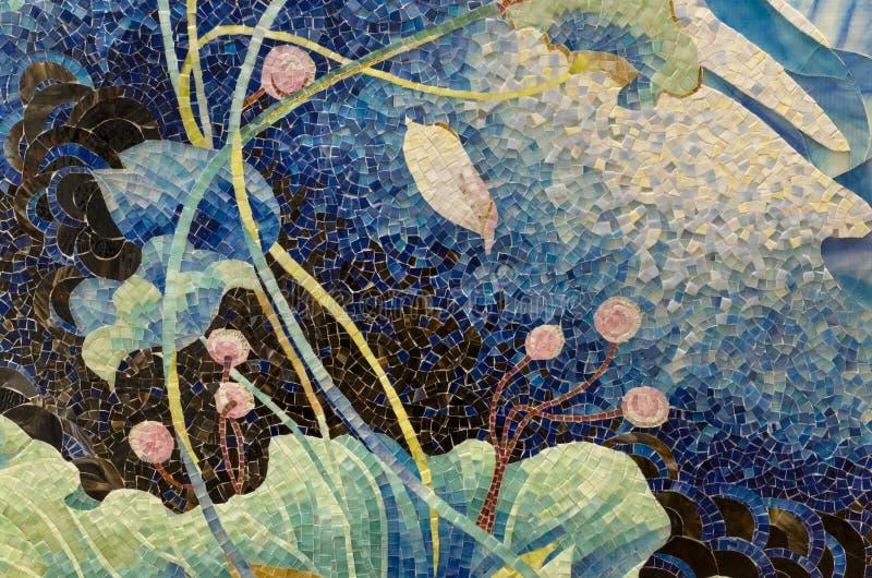 Головоломка мозаики пруда лотоса стоковые фото