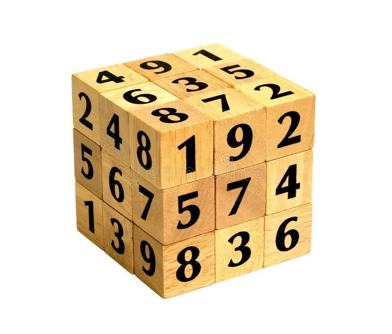 головоломка номера кубика стоковая фотография