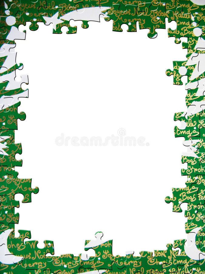 головоломка рамки рождества иллюстрация вектора