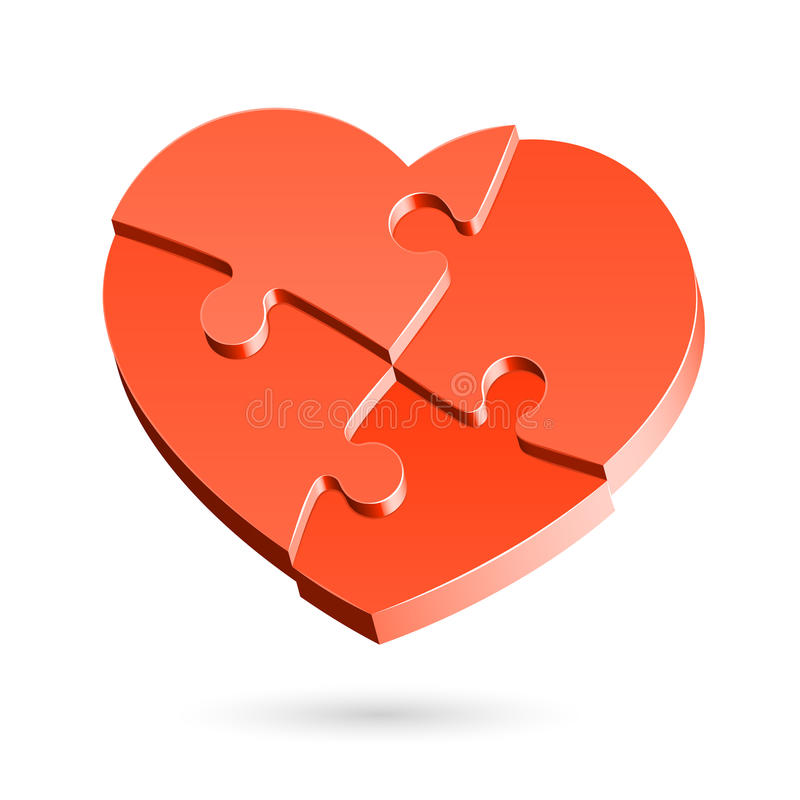 головоломка сердца бесплатная иллюстрация