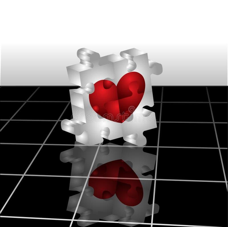 головоломка сердца иллюстрация вектора