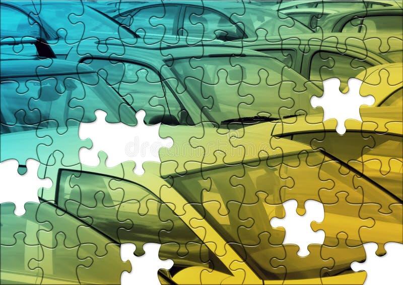 головоломка стоянкы автомобилей иллюстрация штока