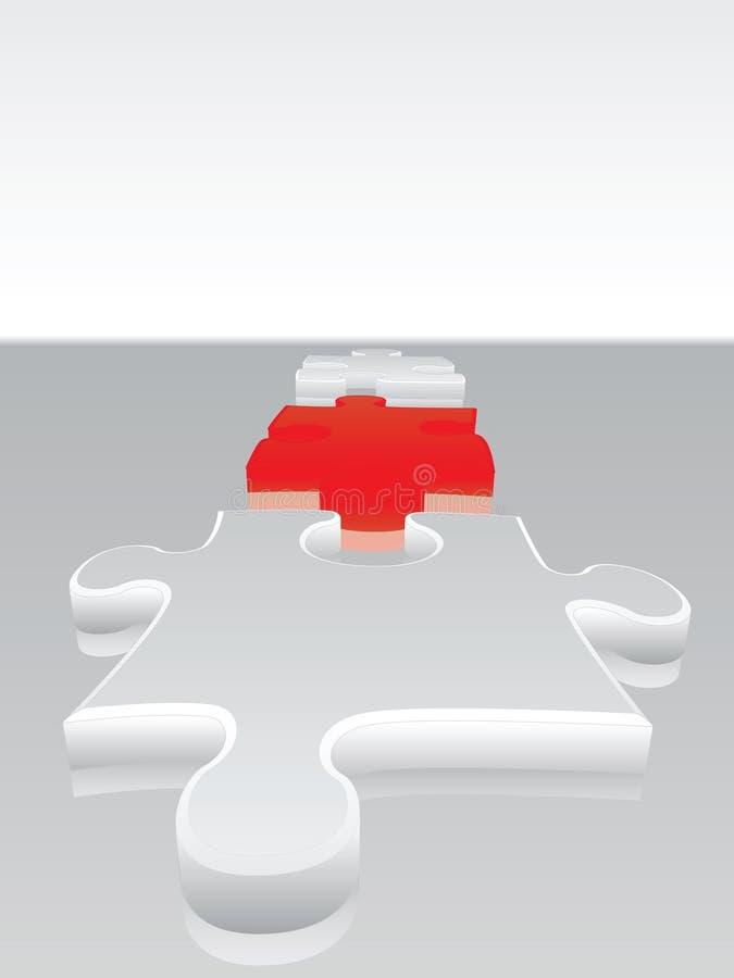 головоломка 2 соединений иллюстрация вектора