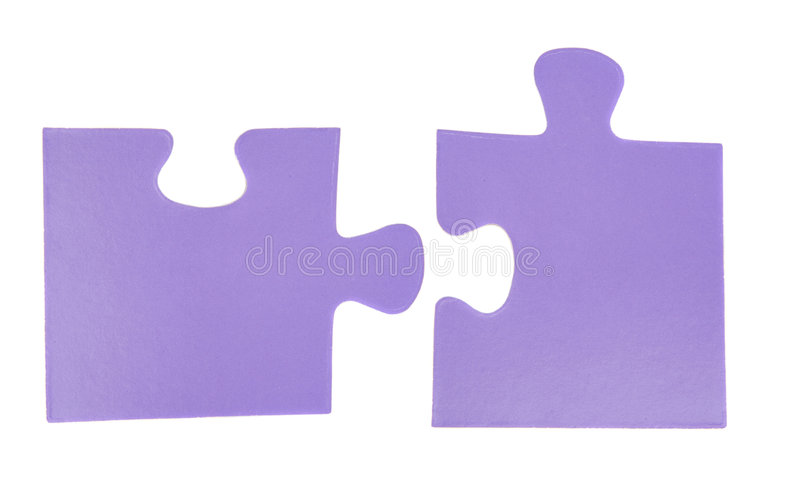 головоломка 2 частей стоковые изображения rf