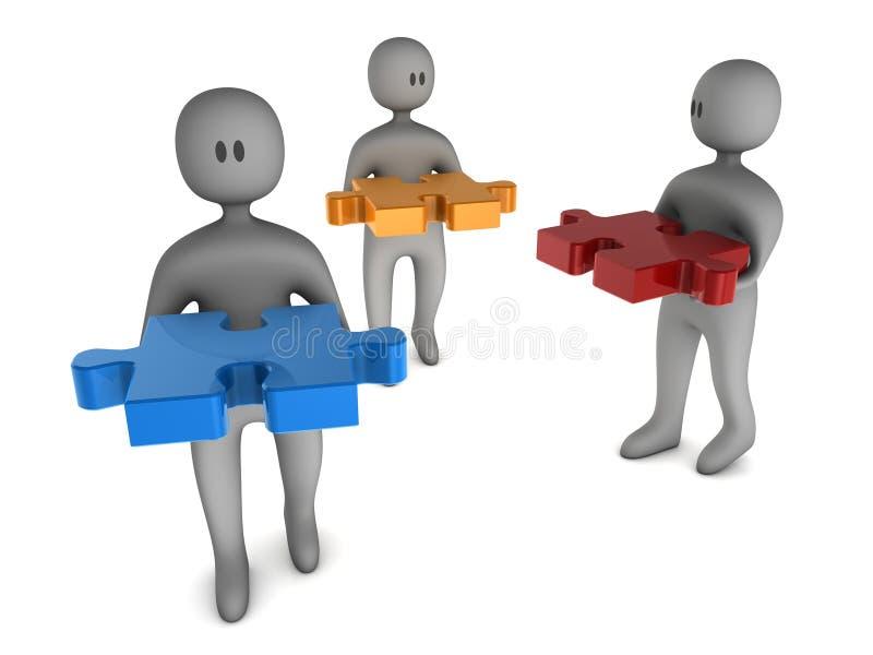 Download головоломка 3 человека удерживания Иллюстрация штока - иллюстрации насчитывающей обслуживание, померанцово: 6860528