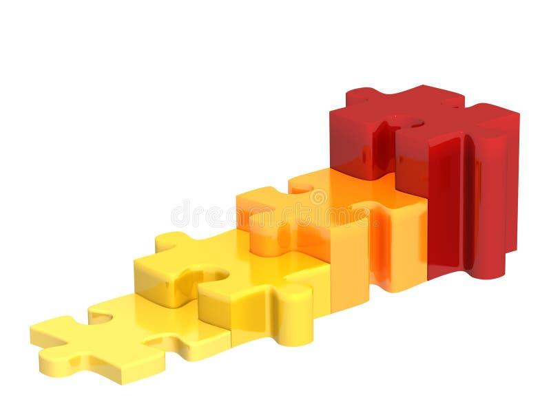 головоломка 3d иллюстрация вектора