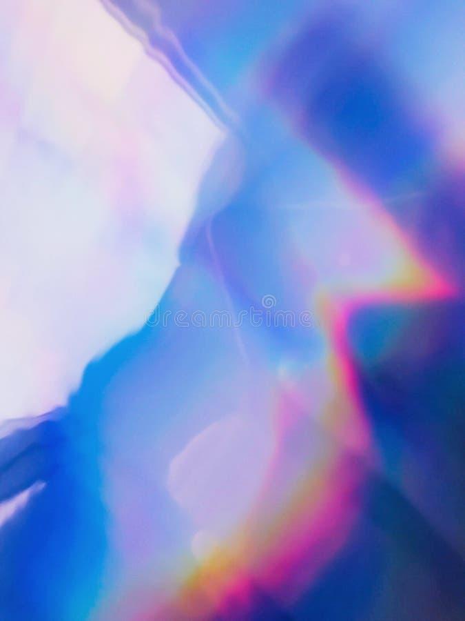 Голографический неон и пастельные цвета иллюстрация вектора
