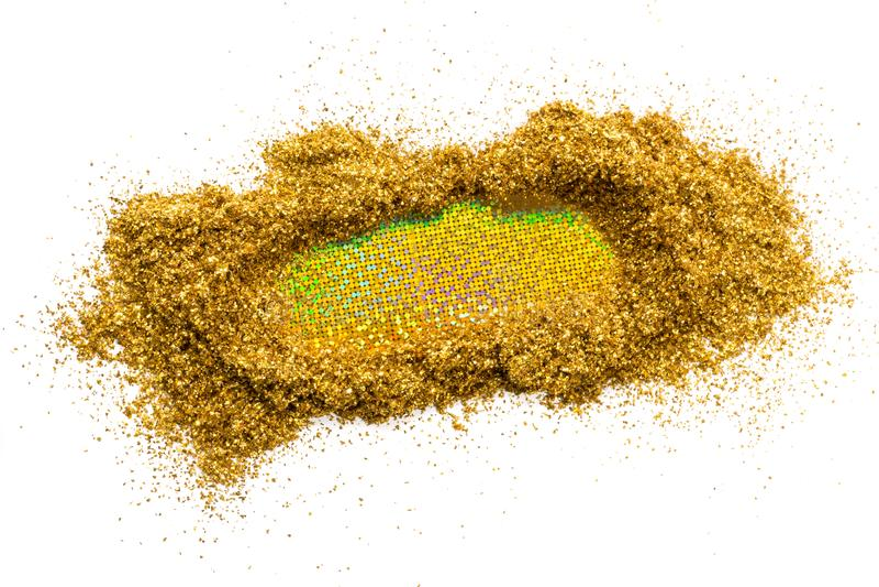 Голографический rinse с sparkles золота, на белой предпосылке вектор текста иллюстрации рамки стоковое изображение rf