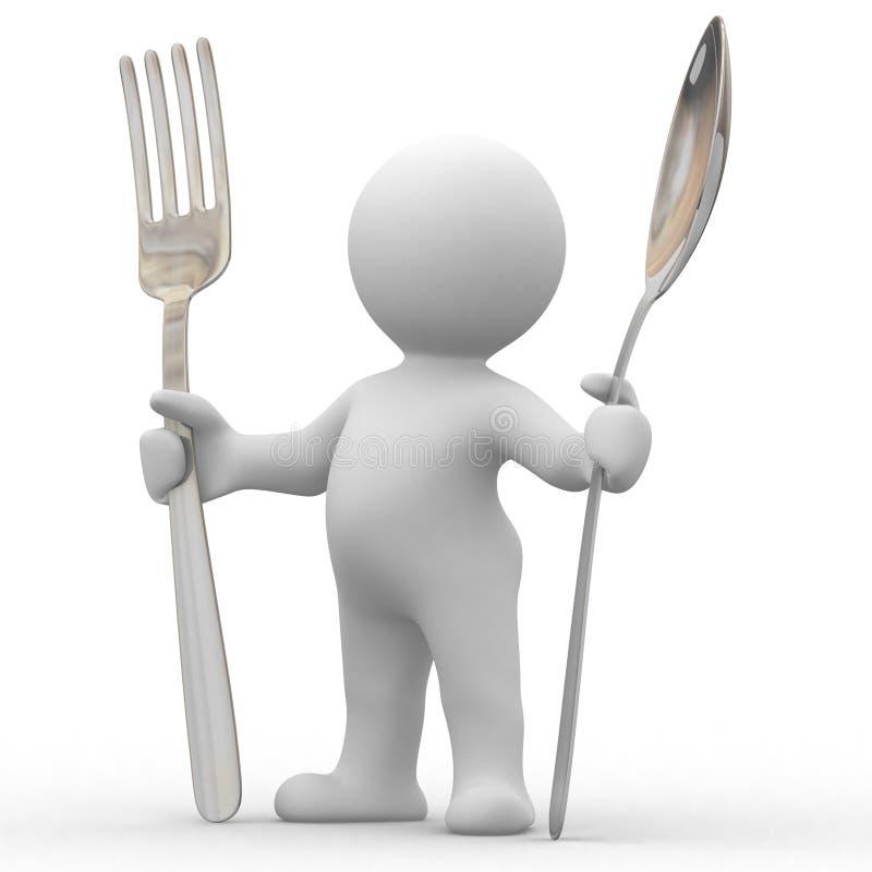 голодное I иллюстрация штока