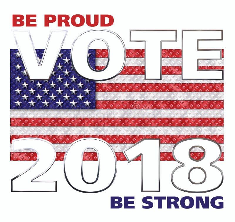 Голосование Америка 2018 иллюстрация вектора