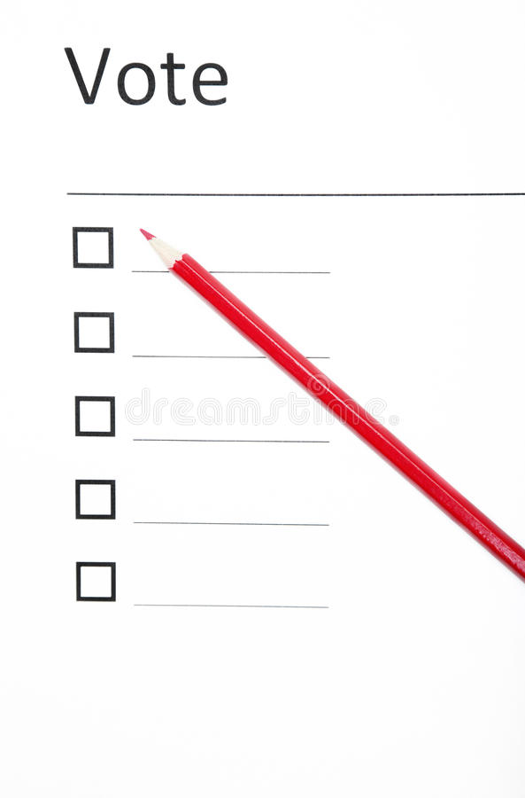 голосовать бюллетеня стоковые изображения