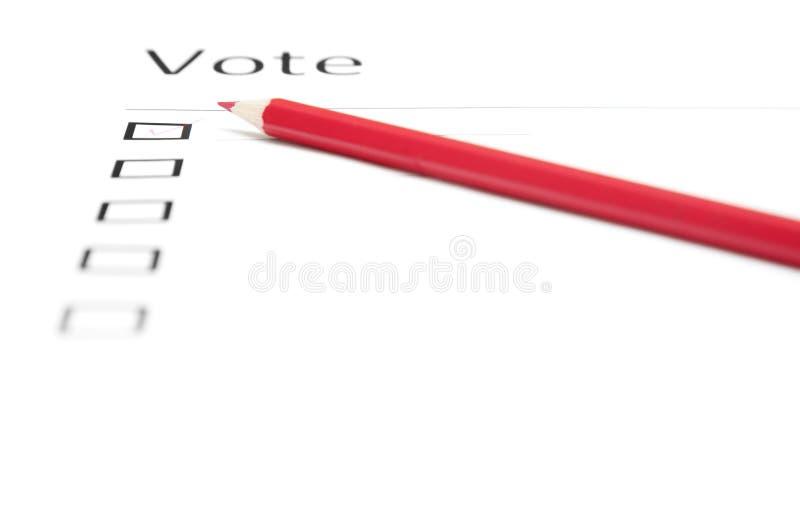 голосовать бюллетеня стоковые изображения rf