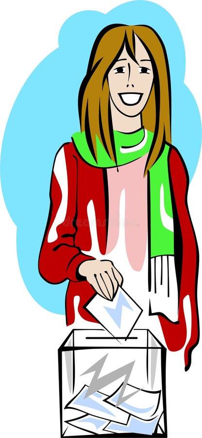 голосуя детеныши женщины иллюстрация штока