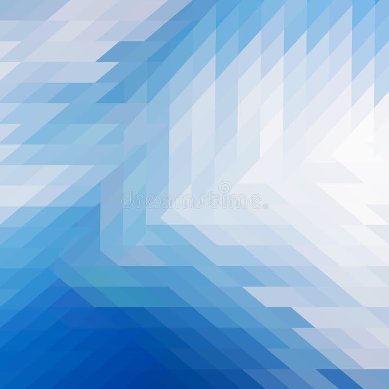 Голубая абстрактная предпосылка вектора полигона иллюстрация штока