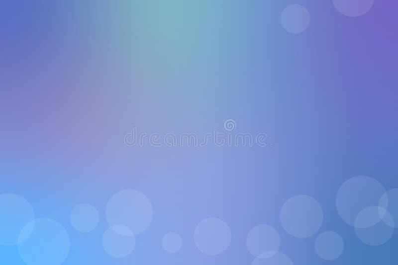 Голубая абстрактная предпосылка нерезкости r иллюстрация вектора