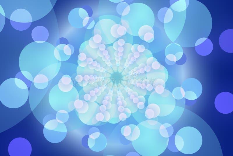 Голубая абстрактная предпосылка, абстрактная форма бесплатная иллюстрация